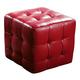 Diamond Sofa Furniture Zen Cube Ottoman in Red