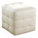 Diamond Sofa Furniture Zen Cube Ottoman in White