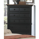 American Woodcrafters Cottage Traditions Five Drawer Chest in Black 6520-150
