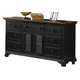 American Woodcrafters Cottage Traditions Triple Dresser in Black 6520-272