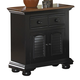 American Woodcrafters Cottage Traditions Large Nightstand in Black 6520-412