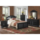 American Woodcrafters Cottage Traditions 4-Piece Panel Bedroom Set in Black