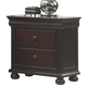 American Woodcrafters Hyde Park Two Drawer Nightstand in Merlot 1310-NS