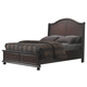 American Woodcrafters Hyde Park King Sleigh Bed in Merlot