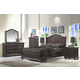 American Woodcrafters Hyde Park 4-Piece Sleigh Bedroom Set in Merlot