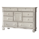 American Woodcrafters Newport Dresser in Antique White 3710-281
