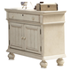 American Woodcrafters Newport Two Door Nightstand in Antique White 3710-412