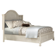 American Woodcrafters Newport King Panel Bed in Antique White