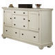 American Woodcrafters Pathways Dresser in Linen White 5110-252