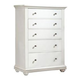 American Woodcrafters Pathways Chest in Linen White 5110-150