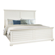 American Woodcrafters Pathways King Panel Bed in Linen White