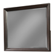 Cresent Fine Furniture Newport Landscape Mirror in  Espresso 1802