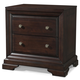 Cresent Fine Furniture Newport  2- Drawer Nightstand w/ Power in Espresso 1812