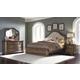 Pulaski Aurora 4-Piece Upholstered Bedroom Set in Gray-Tone