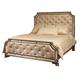 Pulaski Karissa California King Upholstered Bed in Gold