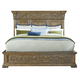 Pulaski Stratton King Panel Bed in Aged Honey