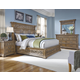 Pulaski Stratton 4-Piece Panel Bedroom Set in Aged Honey