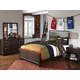 Samuel Lawrence Clubhouse 4-Piece Panel Bedroom Set in Walnut