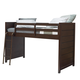 Samuel Lawrence Clubhouse Twin Mid Loft Bed in Walnut