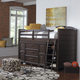 Samuel Lawrence Clubhouse 3-Piece Mid-Loft Bedroom with Slat Roll Set in Walnut