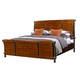Aspenhome Rockland King Sleigh Bed with Metal in Vintage Brown I58-404K