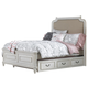 Samuel Lawrence Madison Full Upholstered Bed with Trundle Storage in Antique White