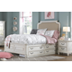Samuel Lawrence Madison Twin Upholstered Bed with Underbed Storage Unit in Antique White