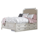 Samuel Lawrence Madison Full Upholstered Bed with Underbed Storage Unit in Antique White