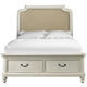 Samuel Lawrence Madison Twin Upholstered Bed with Footboard Storage in Antique White