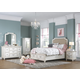 Samuel Lawrence Madison Upholstered Bedroom Set with Footboard Storage in Antique White