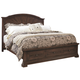 Aspenhome Westbrooke Queen Sunburst Panel Bed w/ Storage Footboard in Stout