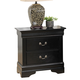 Coaster Louis Philippe Nightstand in Black 201072R