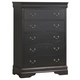 Coaster Louis Philippe Chest in Black 201075R