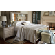 Bernhardt Marquesa Mirrored Panel Bedroom Set in Gray Cashmere Finish