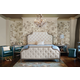 Bernhardt Marquesa Upholstered Panel Bedroom Set in Gray Cashmere Finish