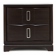 Casana Brooke 2 Drawer Nightstand with Wood Top in Deep Coffee 216-432