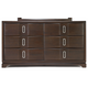 Casana Brooke 6 Drawer Dresser with Wood Top in Deep Coffee 216-456