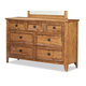 Intercon Furniture Alta Dresser in Brushed Ash AL-BR-5307-BAS-C