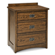 Intercon Furniture Oak Park 3 Drawer Nightstand in Mission CLEARANCE