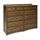 Intercon Furniture Oak Park 12 Drawer Dresser in Mission