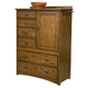 Intercon Furniture Oak Park 6 Drawer Chest with Door in Mission