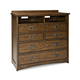 Intercon Furniture Oak Park 5 Drawer Media Chest in Mission