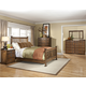 Intercon Furniture Oak Park 4-Piece Slat Bedroom Set in Mission
