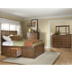 Intercon Furniture Oak Park 4-Piece Panel w/ 6 Storage Drawers Bedroom Set in Mission