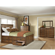Intercon Furniture Oak Park 4-Piece Panel w/ 12 Storage Drawers Bedroom Set in Mission