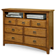 Intercon Furniture Pasadena Revival Entertainment Chest in Medium Brown PR-BR-5407EC-MBN-C