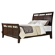 Intercon Furniture Hayden King Sleigh Bed in Rough Sawn and Espresso