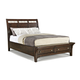 Intercon Furniture Hayden Queen Sleigh Storage Bed in Rough Sawn and Espresso