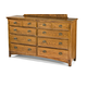 Intercon Furniture Pasadena Revival Drawer Dresser in Medium Brown PR-BR-5408-MBN-C