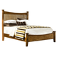 Intercon Furniture Pasadena Revival Queen Panel Bed in Medium Brown